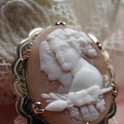 9CT Cameo Ring    Bacchus & Bacchante