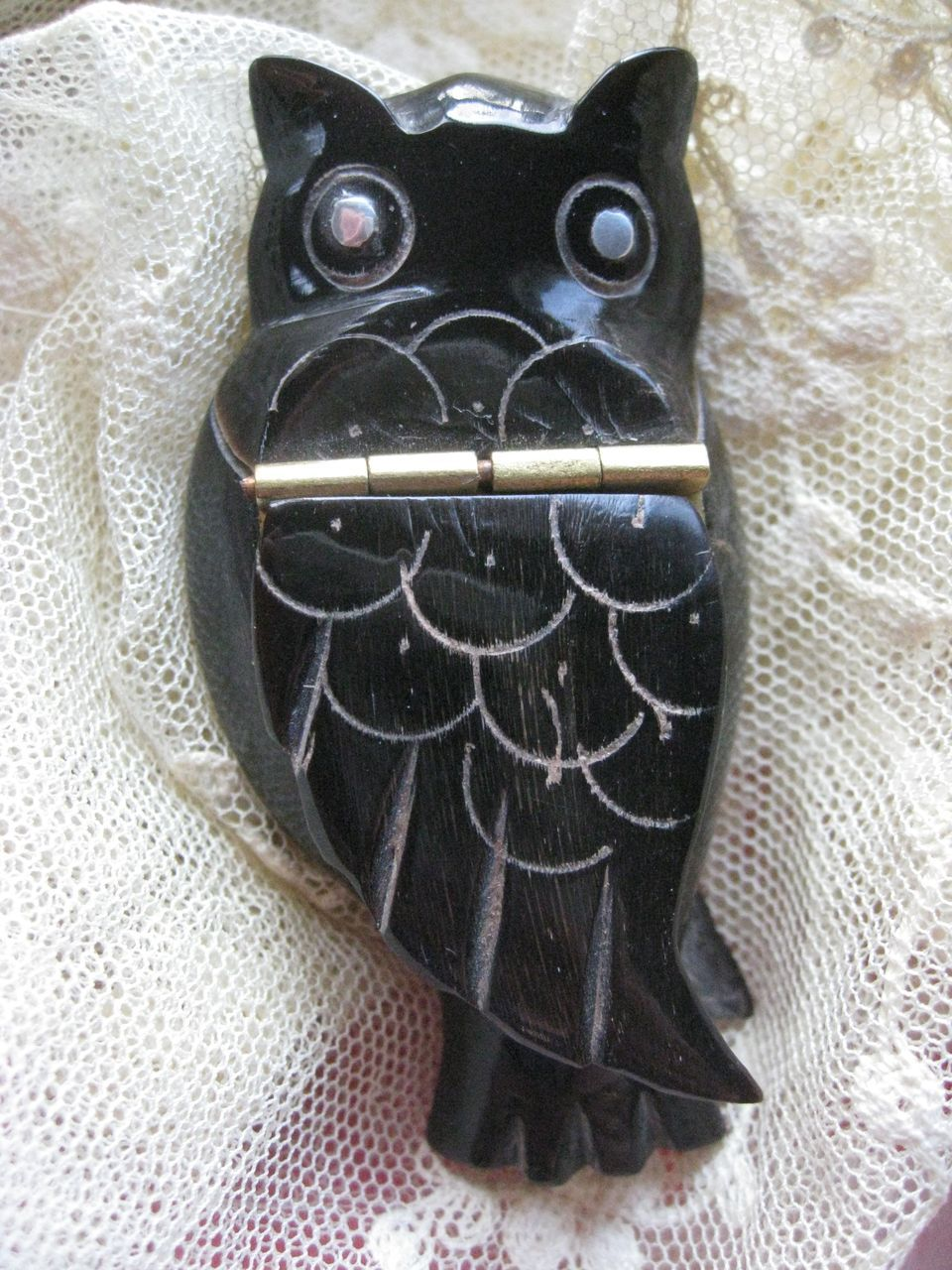 Antique Carved Owl Snuff
