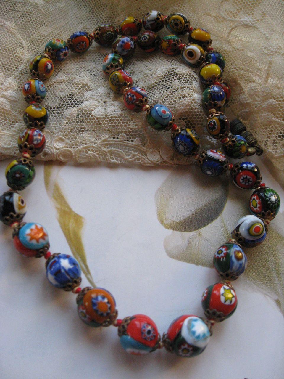 1930's Milifiore Art Glass Necklace