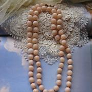Hand Tied Quartz Beads 14K Clasp      Circa 1930