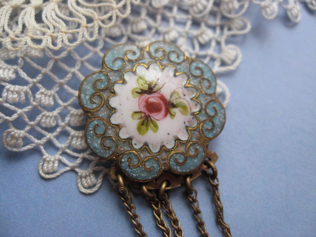 Victorian Enameled Pendant