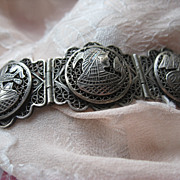 800 Silver Egyptian Revival Bracelet