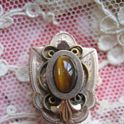 Victorian Slide in Gold Fill    Tiger Eye
