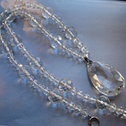 Art Deco Faceted Crystal Necklace
