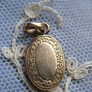 Tiny Turn Of The Century Gold Fill Locket