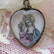 St. Anne   Devotional Heart Charm