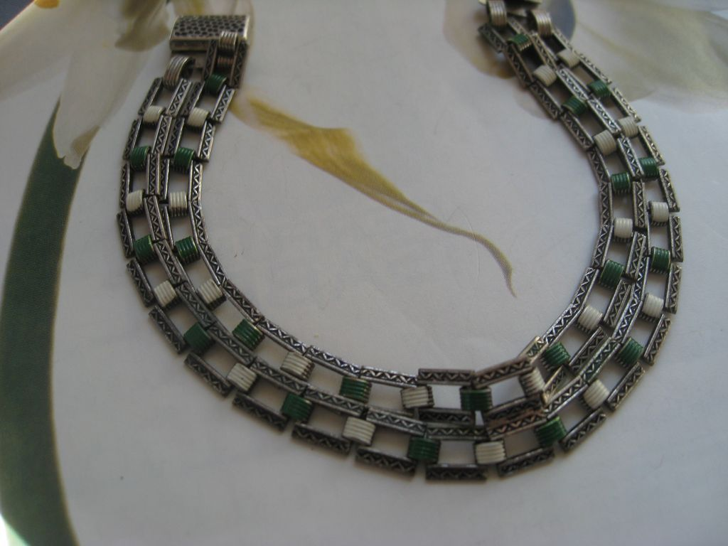 Art Deco Enameled Bracelet