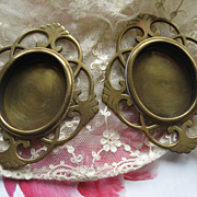 Victorian Brass Frames    Pair Antique
