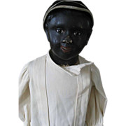 Antique Black Child Sized Mannequin Paper Mache Head    Pay pal not accepted on this item