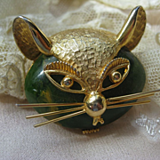 Bakelite Cat Pin