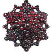 Antique Bohemian Garnet For Get Me Not Pin   January Birthstone