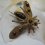 Victorian Cut Steel Fly Pin