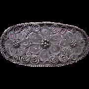 800 Spun Silver Vintage Pin