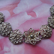 Older Vintage Spun Silver Bracelet