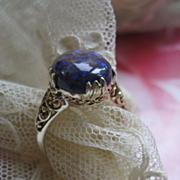 Australian Black Opal 14K Ring