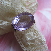 Victorian 10K Amethyst Ring    Size 8