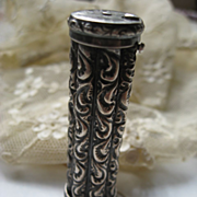 Victorian Sterling Repousse Needle Holder