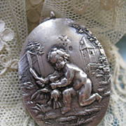 Antique Silver Snuff Locket