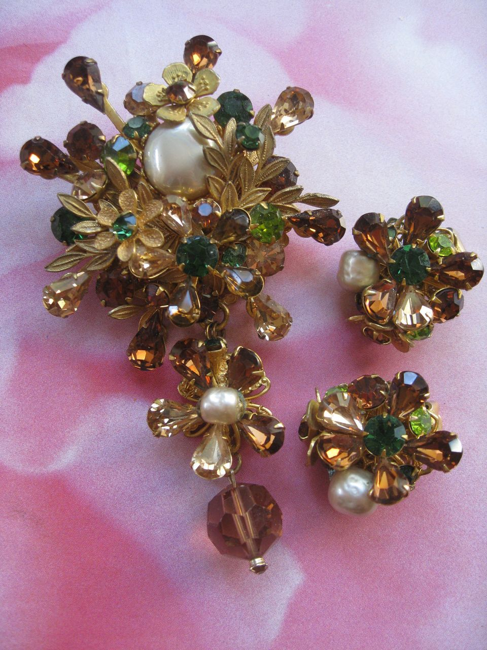 Vintage Demario Pin Amp Clip On Earrings From