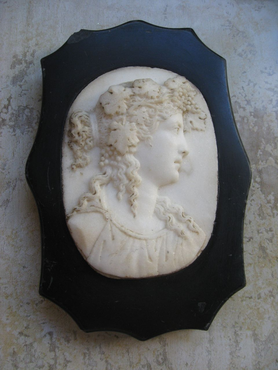Antique  Carved Stone Paper Weight
