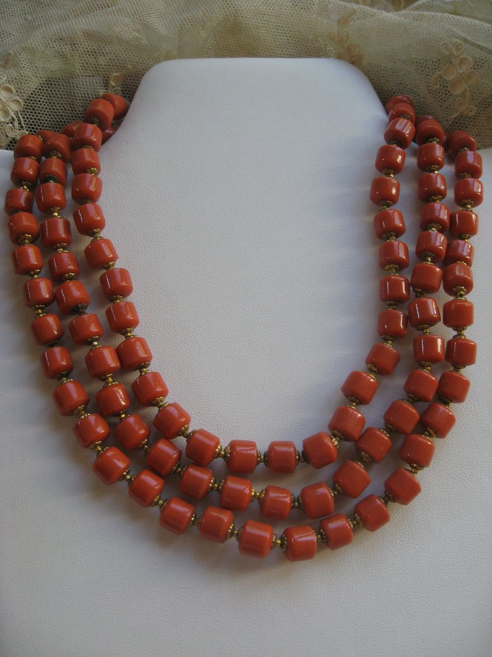 DeMario Faux Coral Necklace