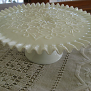 Fenton Spanish Lace Cake Plate, Wedding Cake Display, Cup Cake Stand, Dessert Pedestal