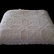 1940s Hand Crochet Bed Spread, Throw, Coverlet