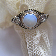 Deco Opal 10K Ring, Circa 1920, Estate Jewelry