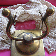 Vintage Brass Pocket Watch Holder Display