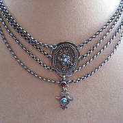 Antique Silver Austro Hungarian Necklace