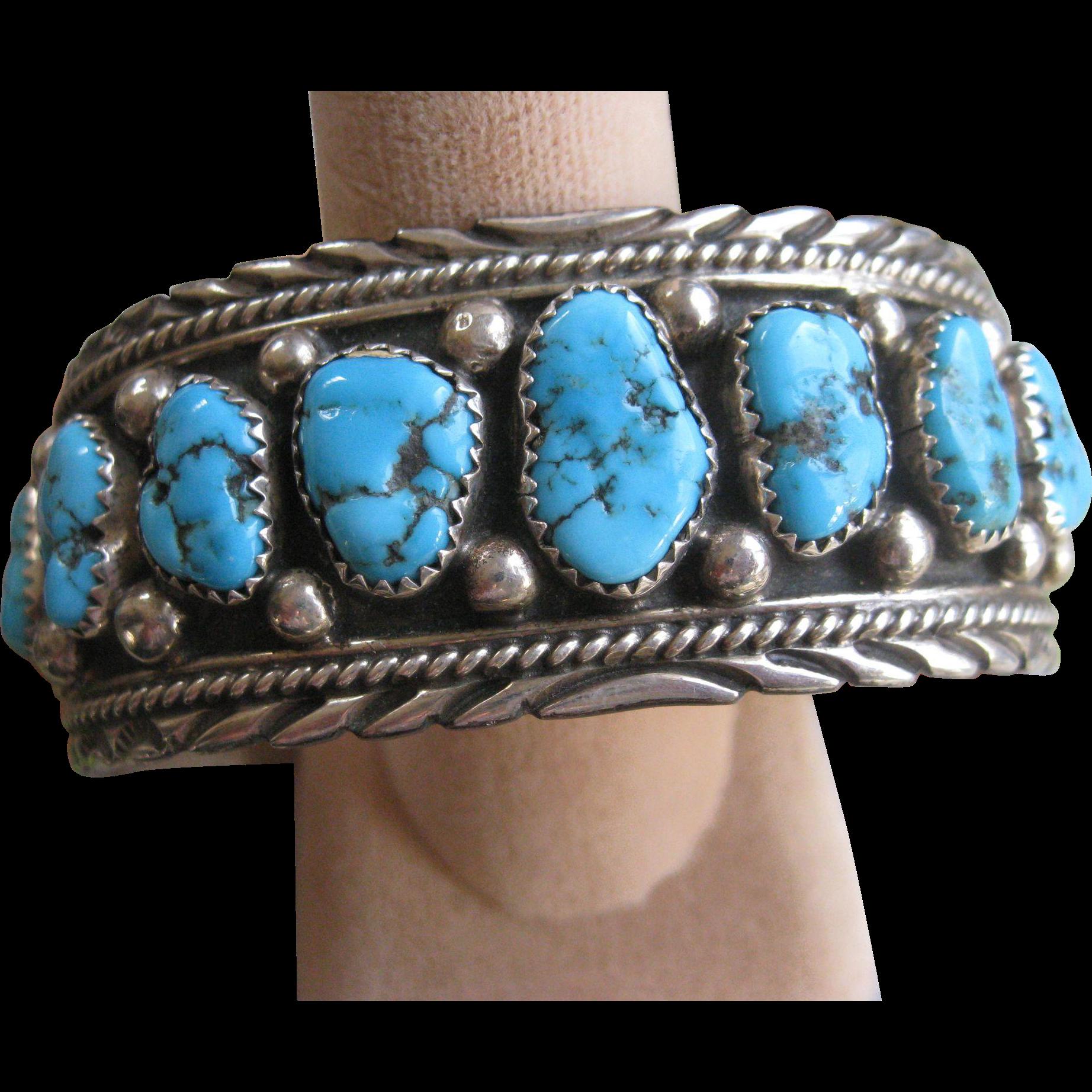 vintage sterling navajo cuff bracelet american