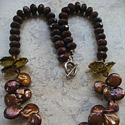 Chocolate Brown Keshi Fresh Water Pearl Necklace