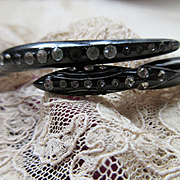 Celluloid Paste Snake Bracelet, 1930s -1940s