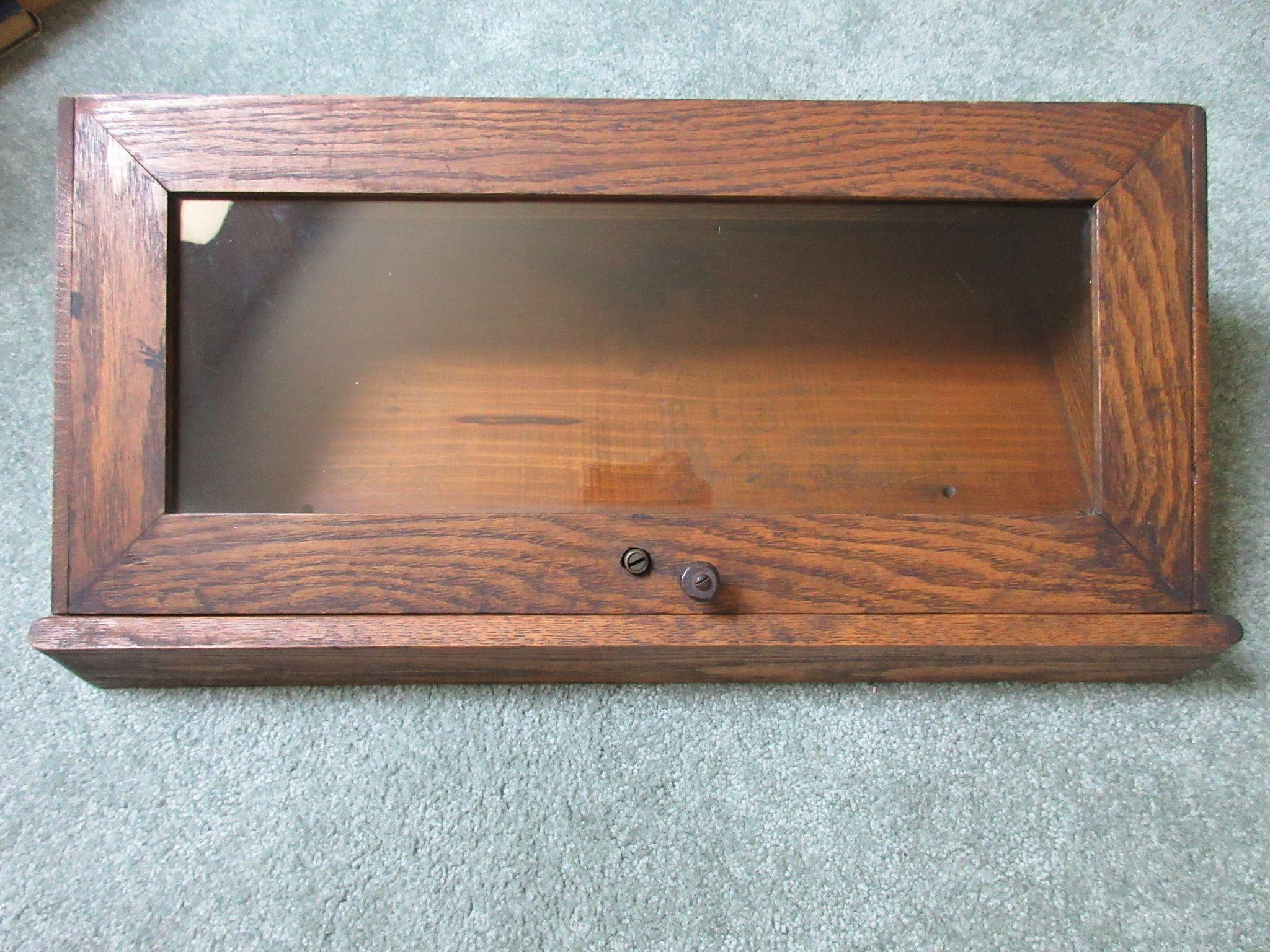 Antique Oak Counter Top Display Case