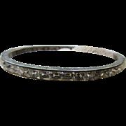 Deco Flapper Sterling Channel Set Crystal Bracelet