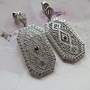 Vintage Sterling Filigree Pierced Earrings