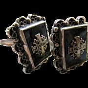 Vintage 900 Silver Cuff Links, Jerusalem