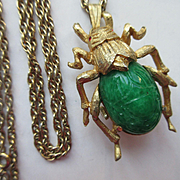 Waltham Figural Pendant Watch, Scarab Beetle Pendant Watch