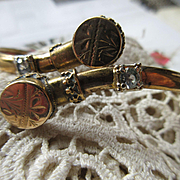Victorian Bypass Bracelet in Gold Fill
