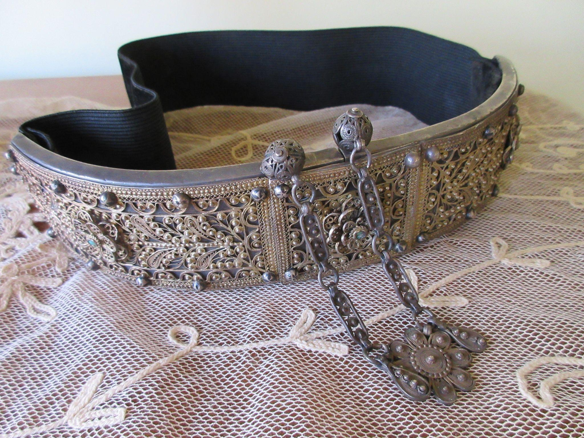 Silver Filigree Wedding Belt, Early Twentieth Century Silver Belt