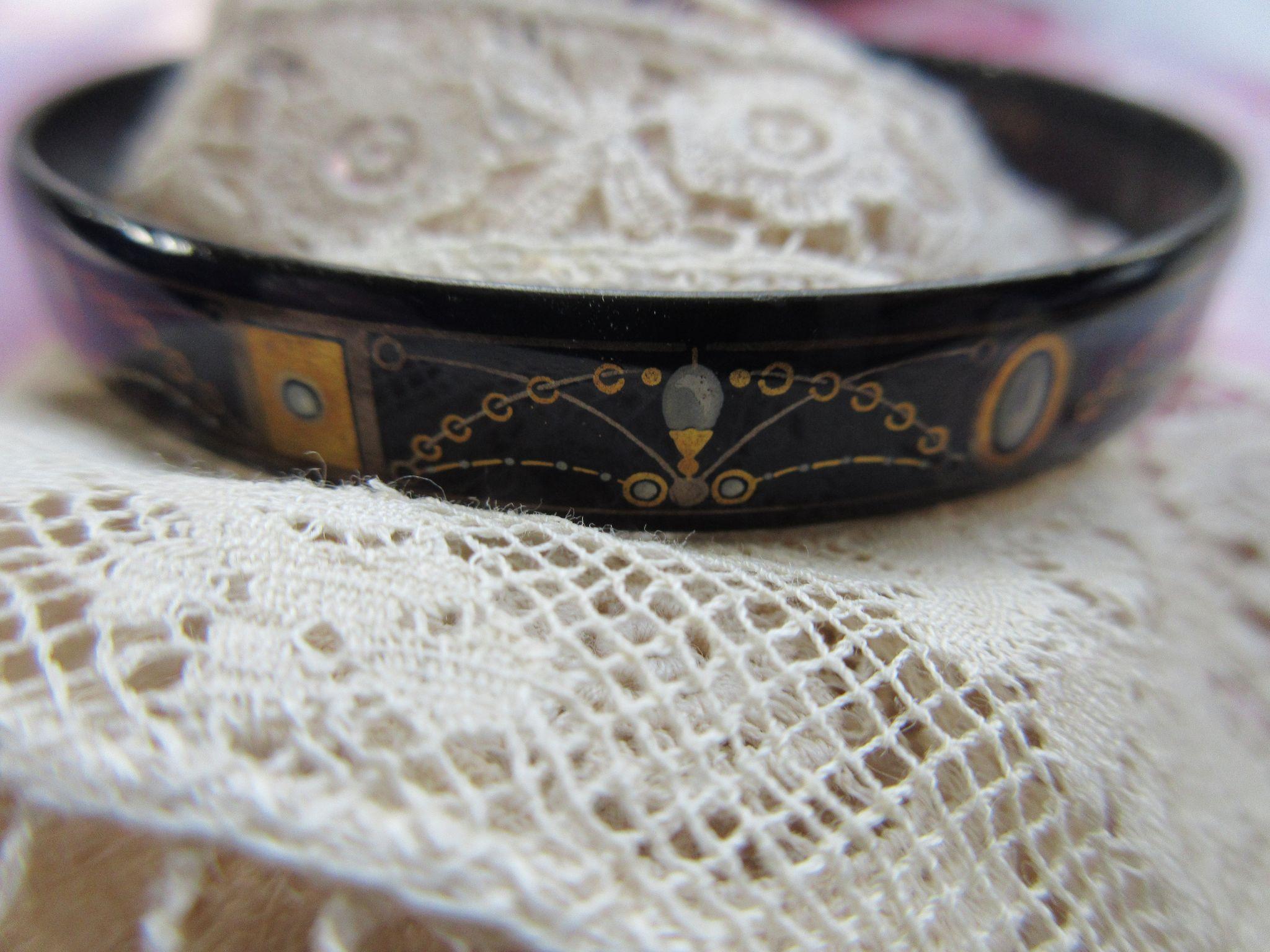 Vintage Michaela Frey Enameled Bracelet, Austria