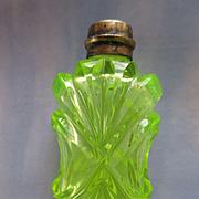 Antique Victorian Vaseline Scent Perfume Bottle TLC