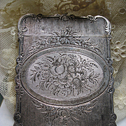Antique Victorian  Sterling Calling Card Case