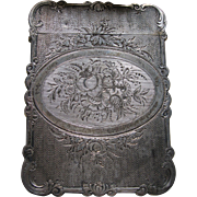 Antique Victorian  Sterling Calling Card Case - Red Tag Sale Item