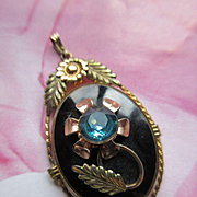 Retro Floral Locket in Gold Fill