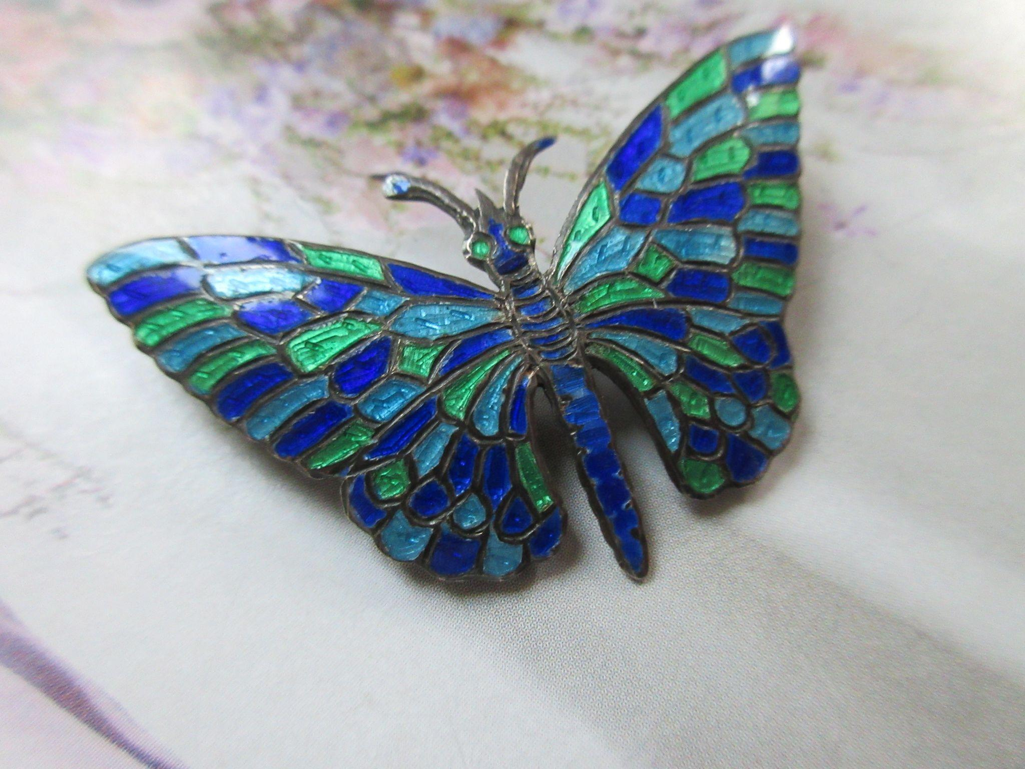 Siam Sterling Enameled Butterfly