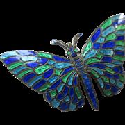 Siam Sterling Enameled Butterfly