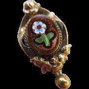 Victorian Pietra Dura Charm Pendant