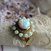 Vintage 14K Opal Ring  Hallmarked Ruth