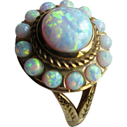 Vintage 14K Opal Ring  Hallmarked Ruth